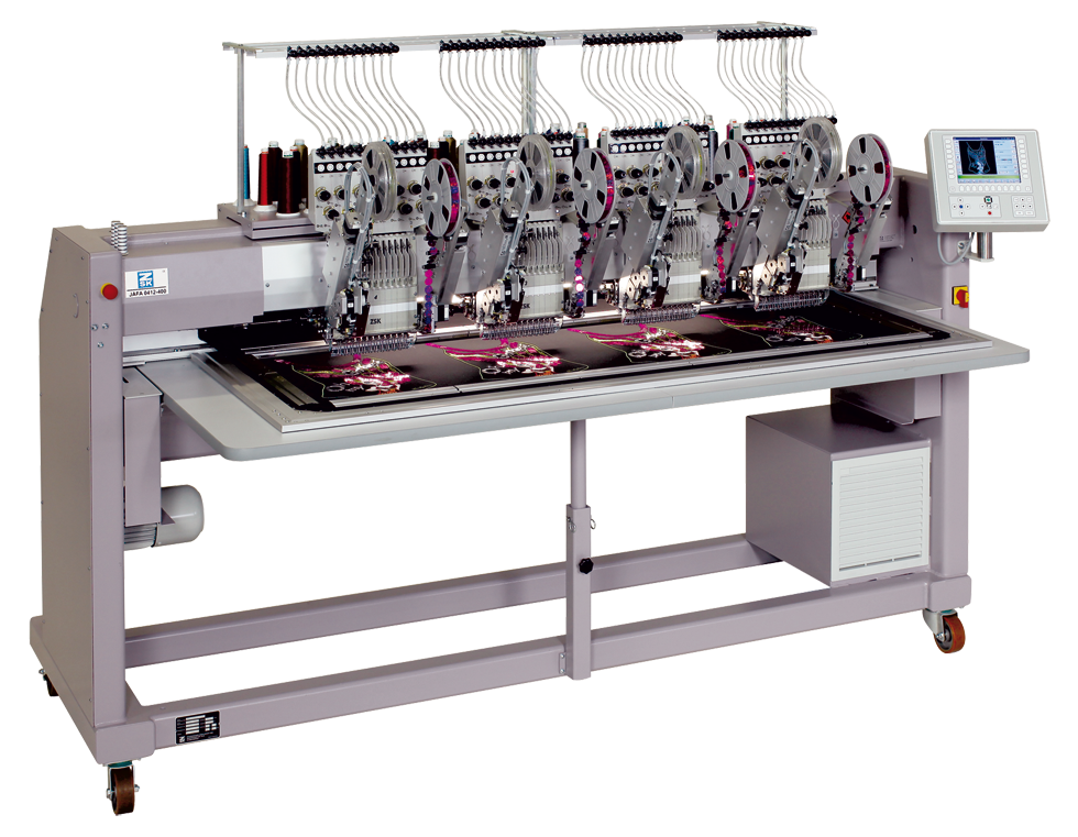 Four Head Industrial Embroidery Machine by ZSK